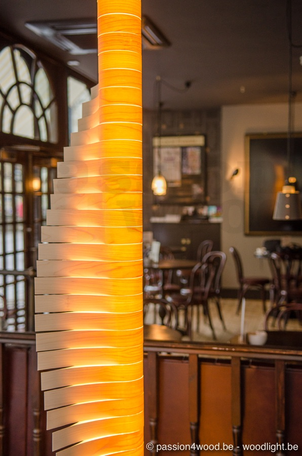 Helix lighting in maple wood - Cambridge Chop House - Passion 4 Wood - Loci Interiors