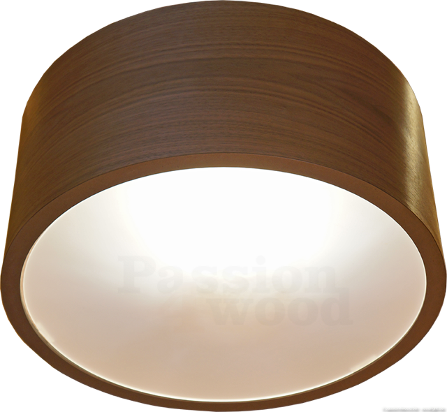 Drum - ronde hanglamp in walnoot hout - passion4wood - woodlight