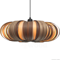 Mayom design hanglamp in 3 houtsoorten zebrano walnut en tulipwood