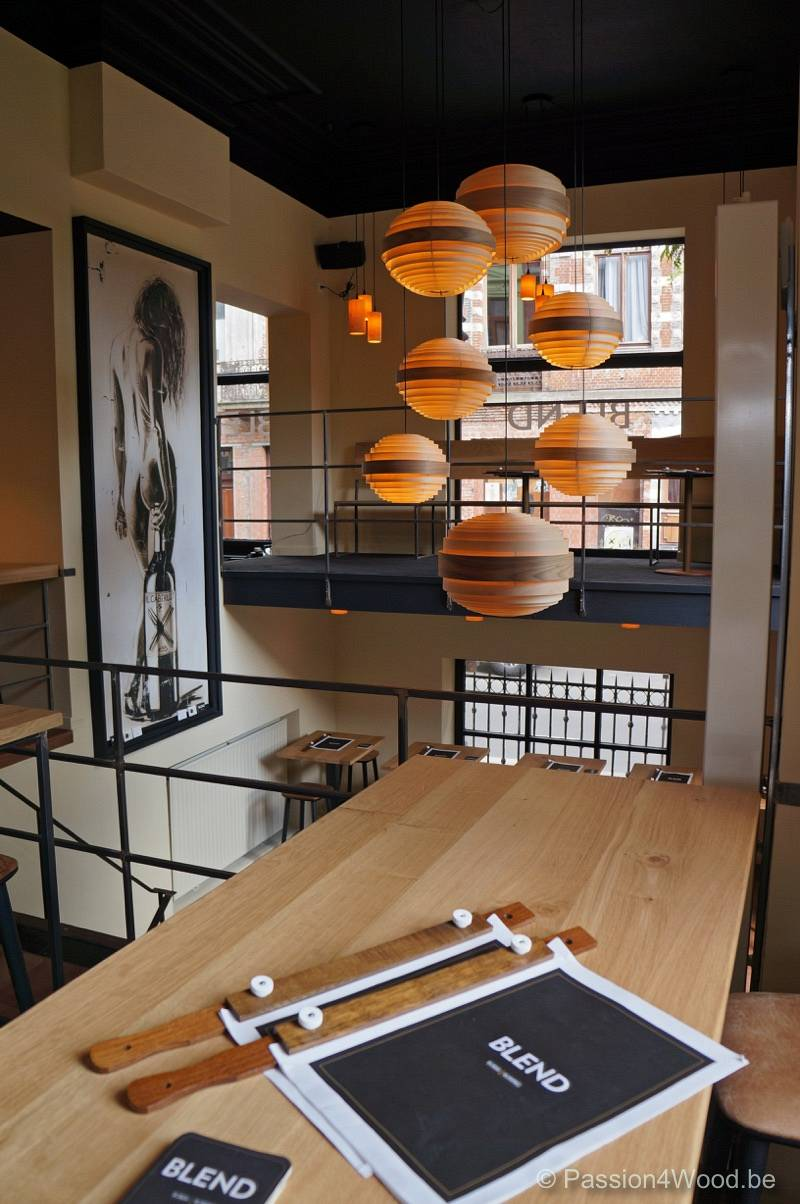 Blend Gent winebar - custom build lights