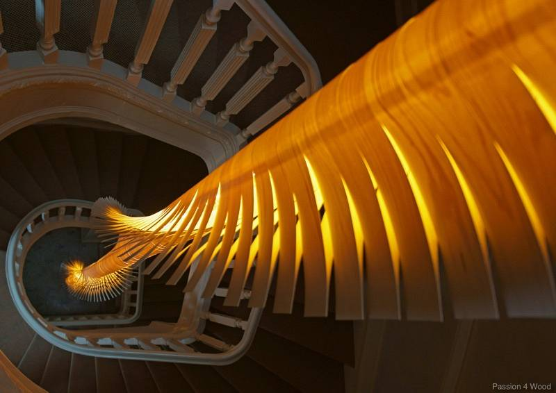 Helix in staircase - 1