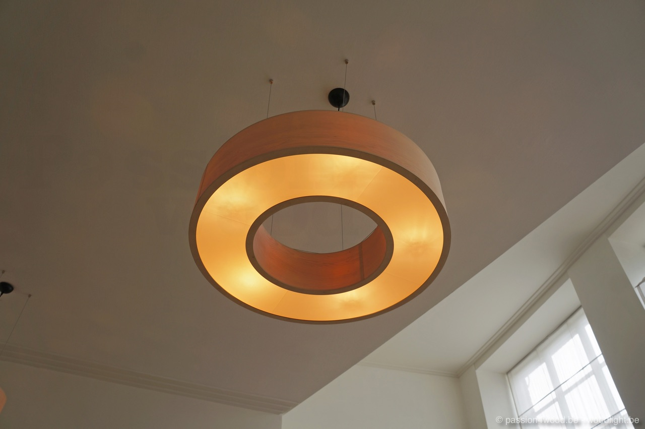 Donut Ring Modern Wooden Pendant And Ceiling Lights
