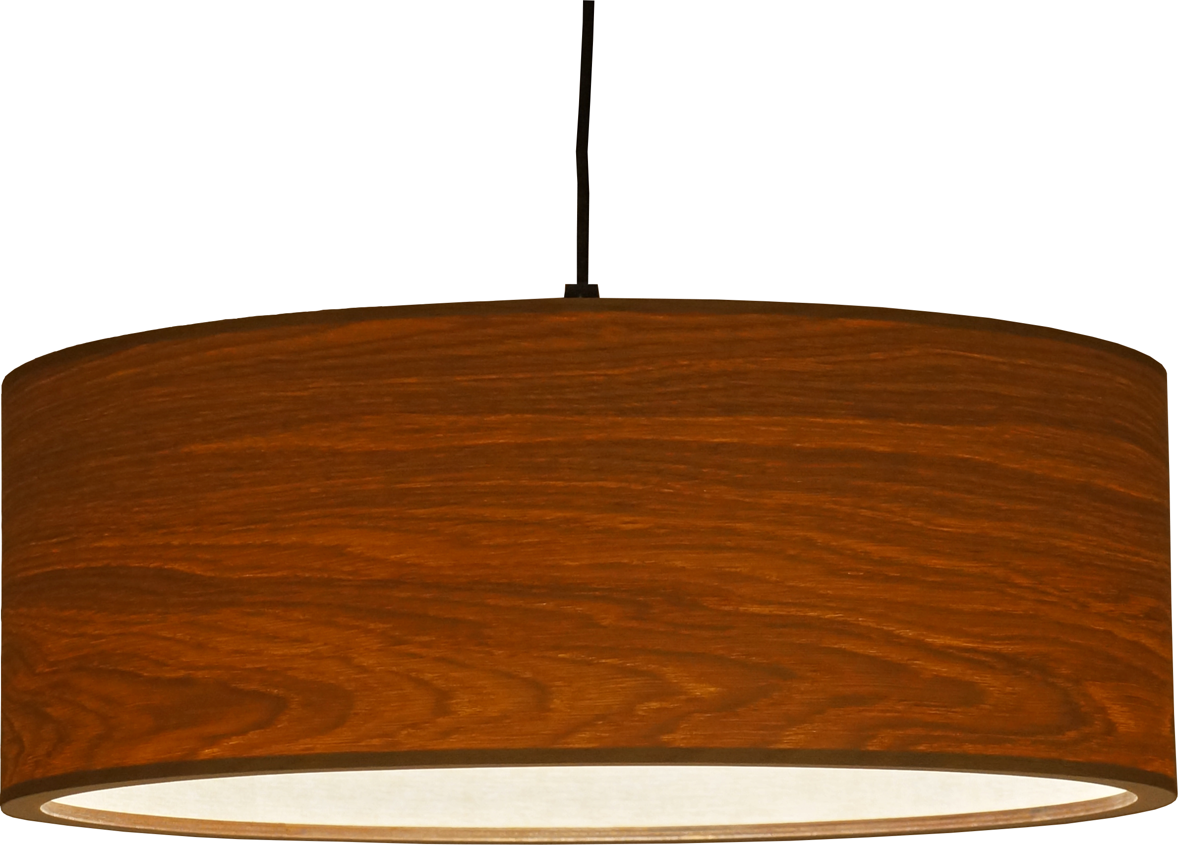 Drum - simple round pendant lamp - oak wood - woodlight passion4wood