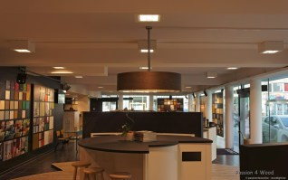 Big drum light in wenge wood - colora Oostende