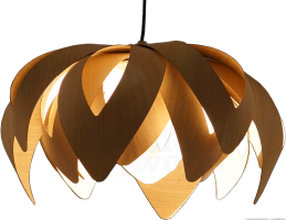 Tulip pendant light in wood - mike vanbelleghem - passion 4 wood - small